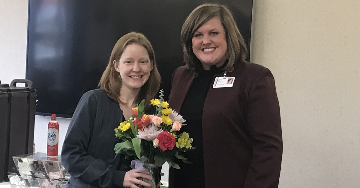 Elizabeth Vanhook awarded La Porte Hospital Clinical Colleague of the Quarter