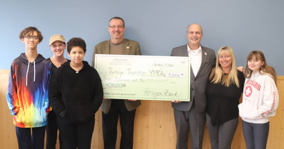 Horizon Bank continues the long-standing practice of community support through donation to the Portage YMCA