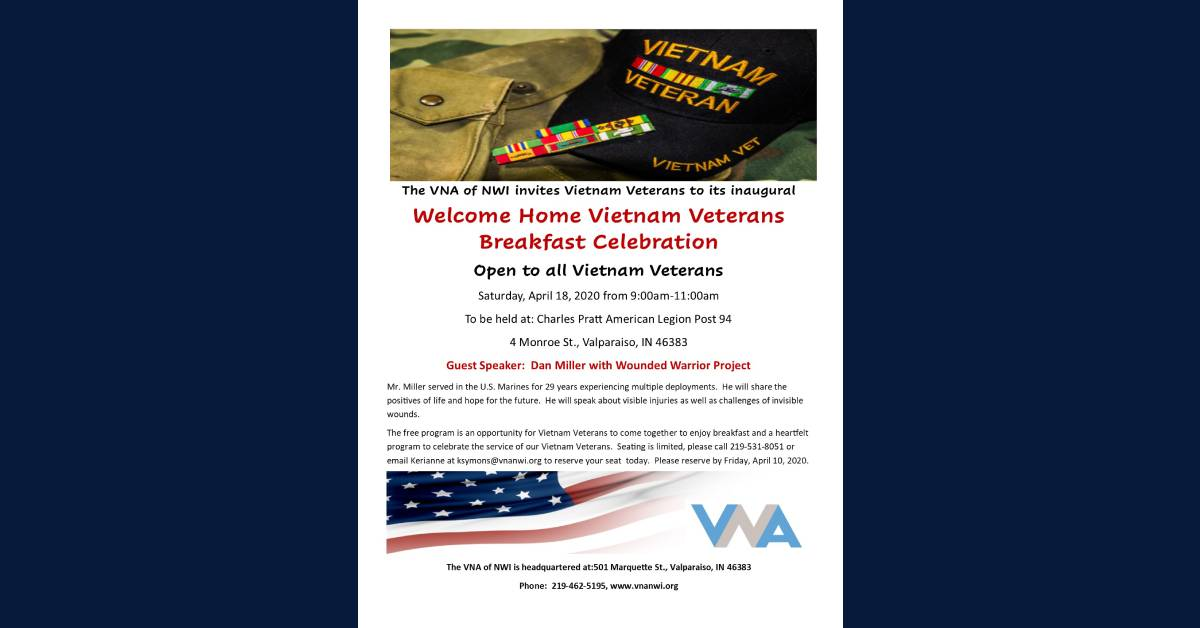 VNA of NWI Hosting Inaugural Welcome Home Vietnam Veterans Celebration