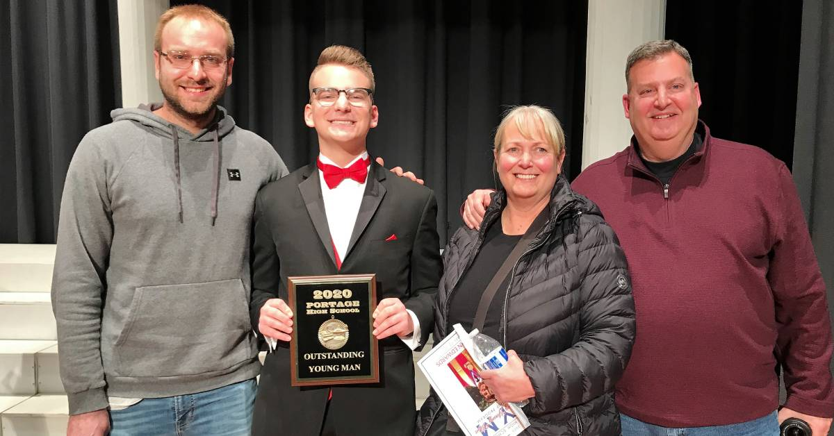 Portage High School students compete in Outstanding Young Man Scholarship Program event