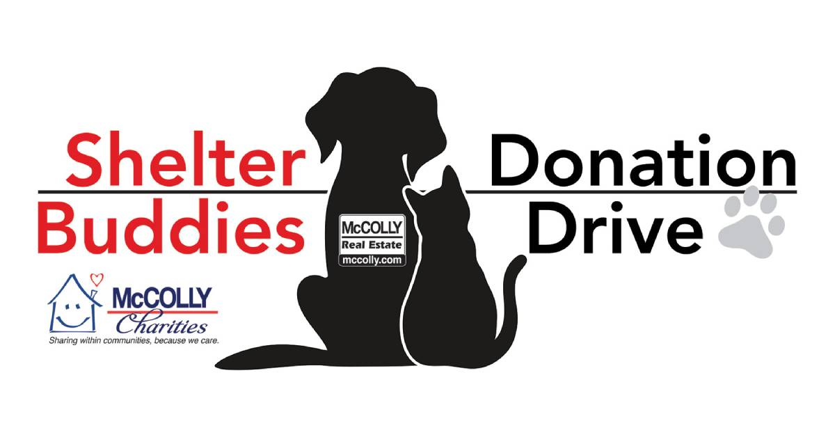 McColly Real Estate Announces Shelter Buddies Donation Drive as it continues to give back to local communities