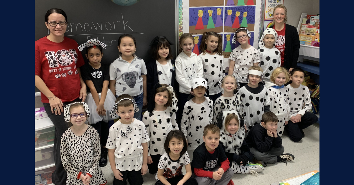 First grade rooms full of puppies at St. Mary's School in Crown Point