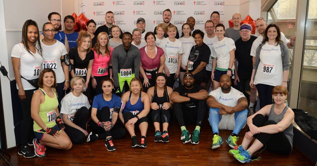 UnitedHealthCare members climbing for a cause: Fight For Air Climb – Chicago