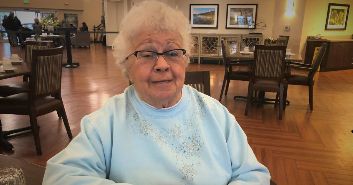 Marge Pavlovick spreads a little sunshine at Belvedere Senior Housing