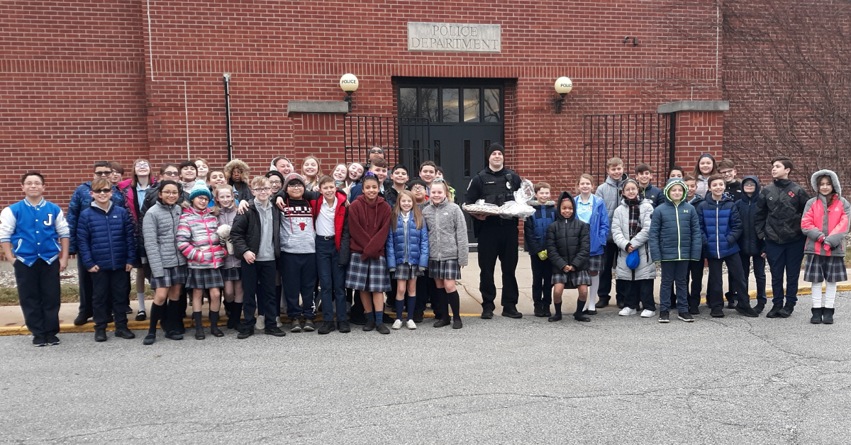 St. Mary's students express gratitude to the community