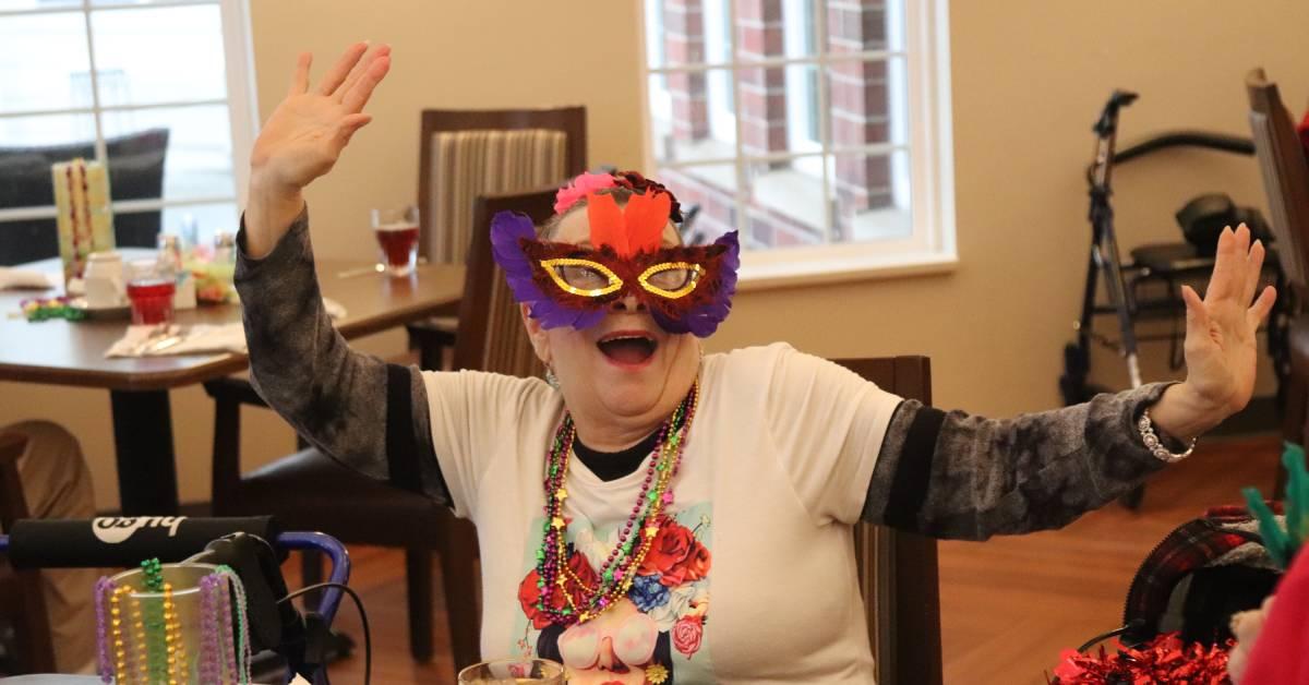 Belvedere Senior Housing throws celebratory Mardi Gras bash for residents