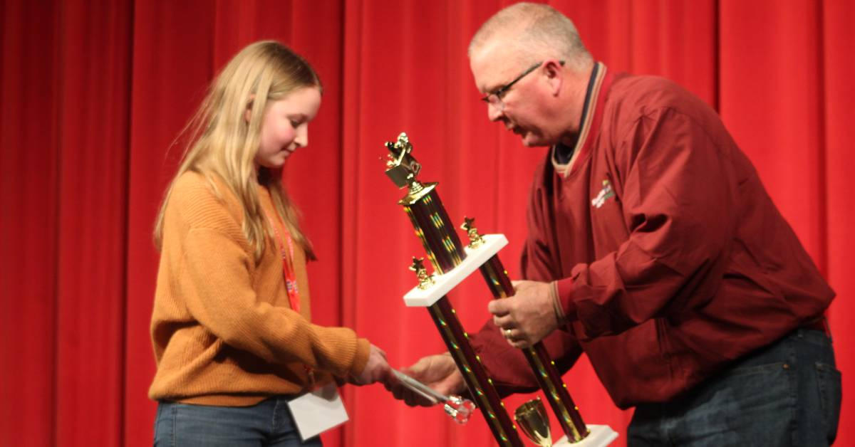 Highland Middle School student claims top honors at Kankakee Valley REMC Regional Spelling Bee