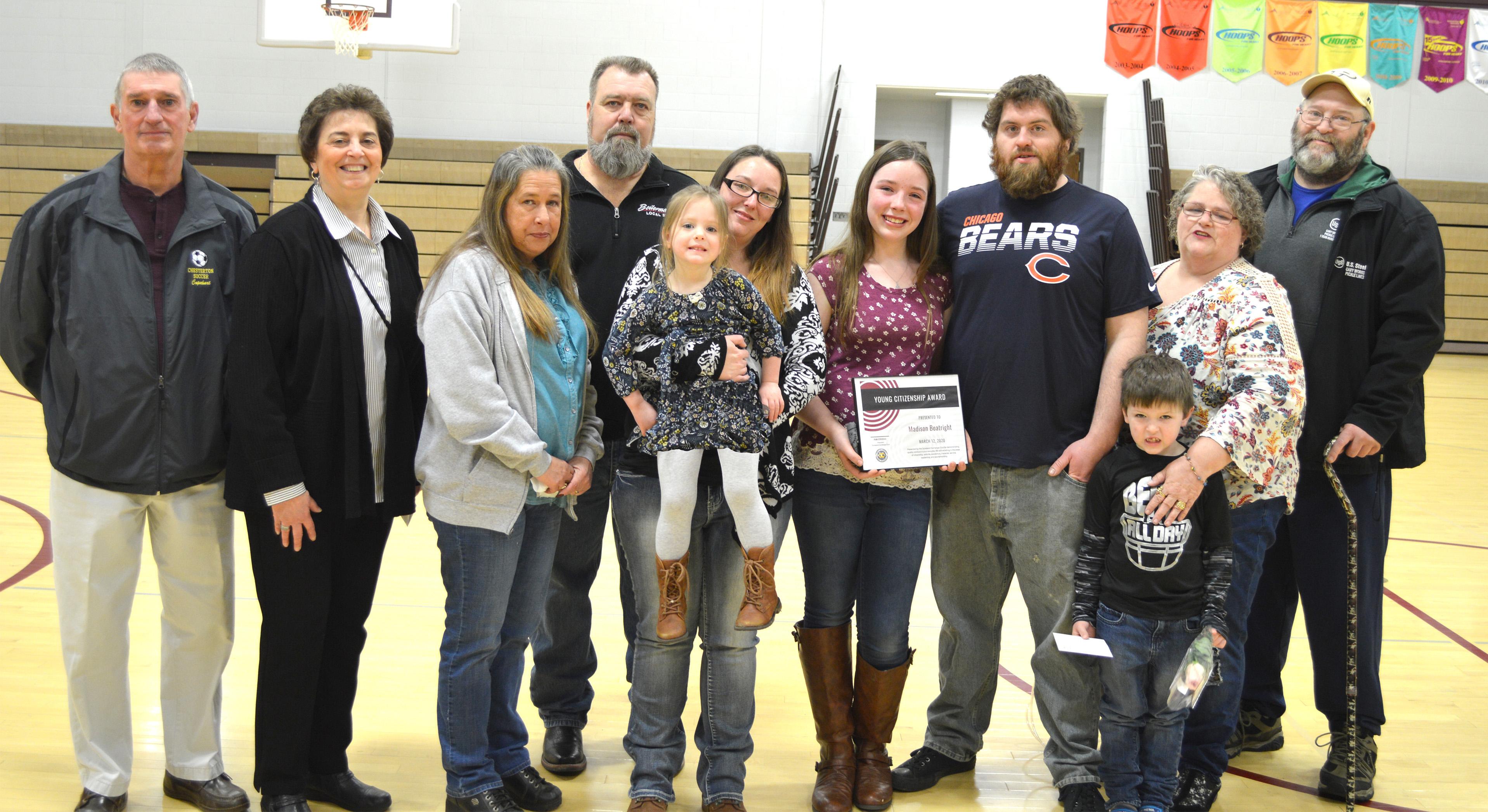 Liberty Intermediate Young Citizenship Award