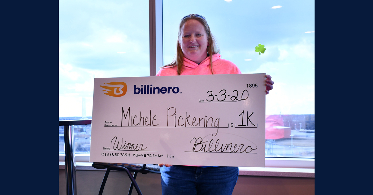 Billinero Savings App selects monthly $1,000 cash prize winner