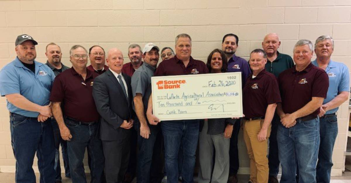 1st Source Bank Awards LaPorte County Agricultural Association $10,000