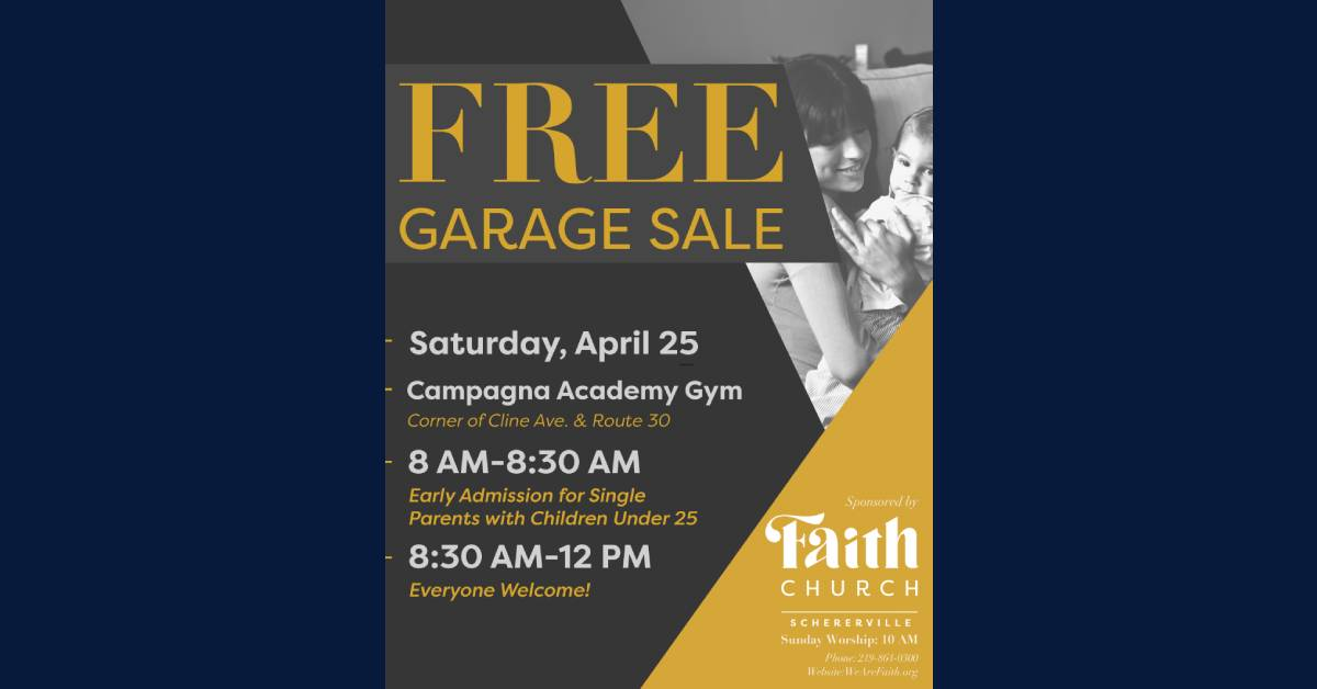 ABSOLUTELY FREE COMMUNITY GARAGE SALE