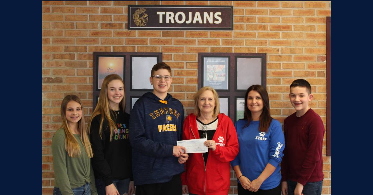 Chesterton Middle School Student Council members recently hosted a fundraiser selling candy grams