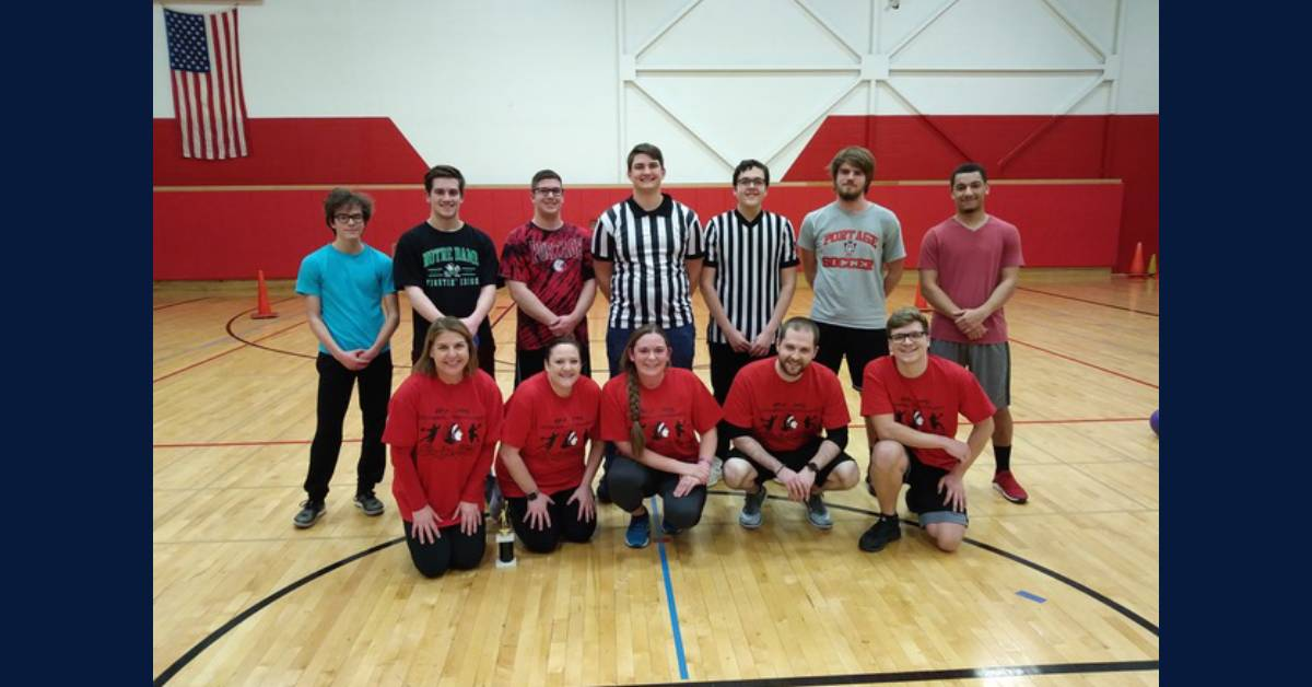 Portage High School hosts first-ever Dodgeball Tournament