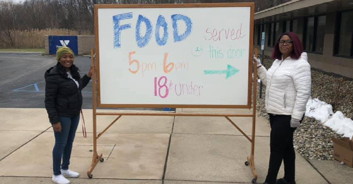 Free meals for families at Portage YMCA
