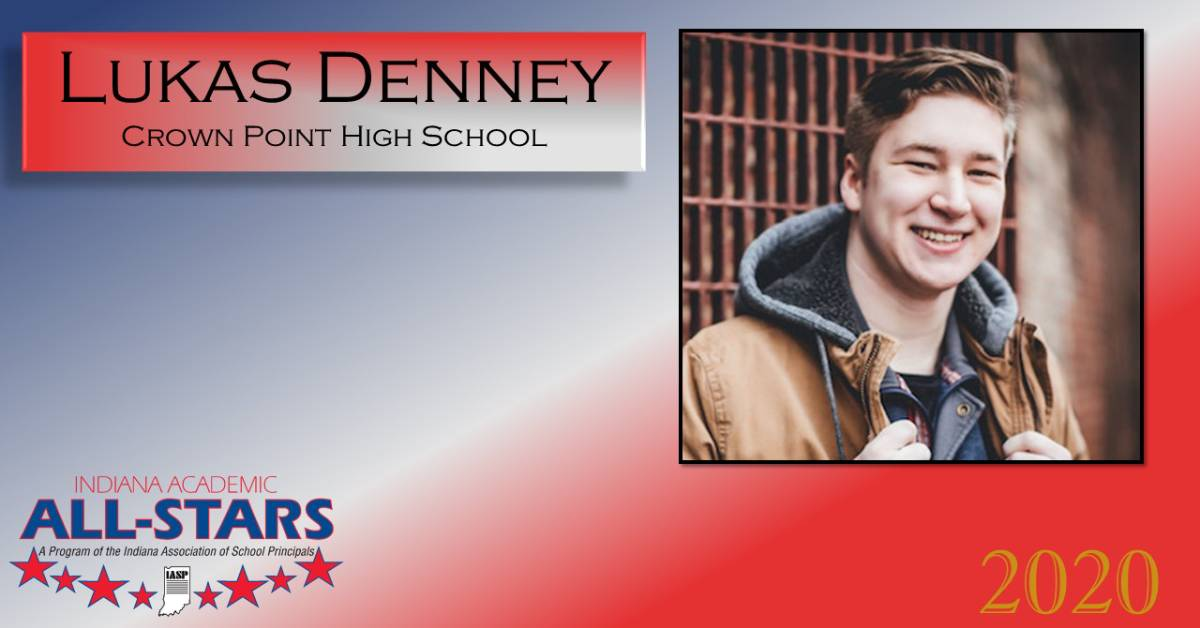 Crown Point High School Student Lukas Denney Academic 2020 All-Star