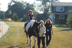 girl riding horseback