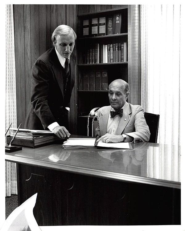Historica Centier Bank photo Mike Schrage and Walter Schrage Jr.