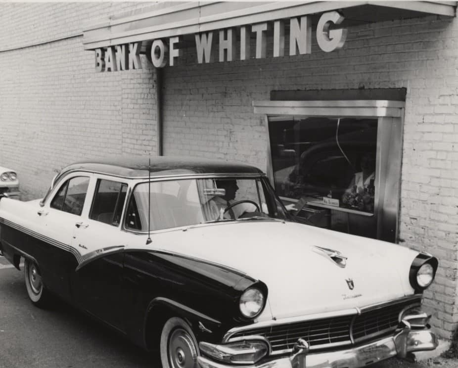 Bank of Whiting historial photo 1950s