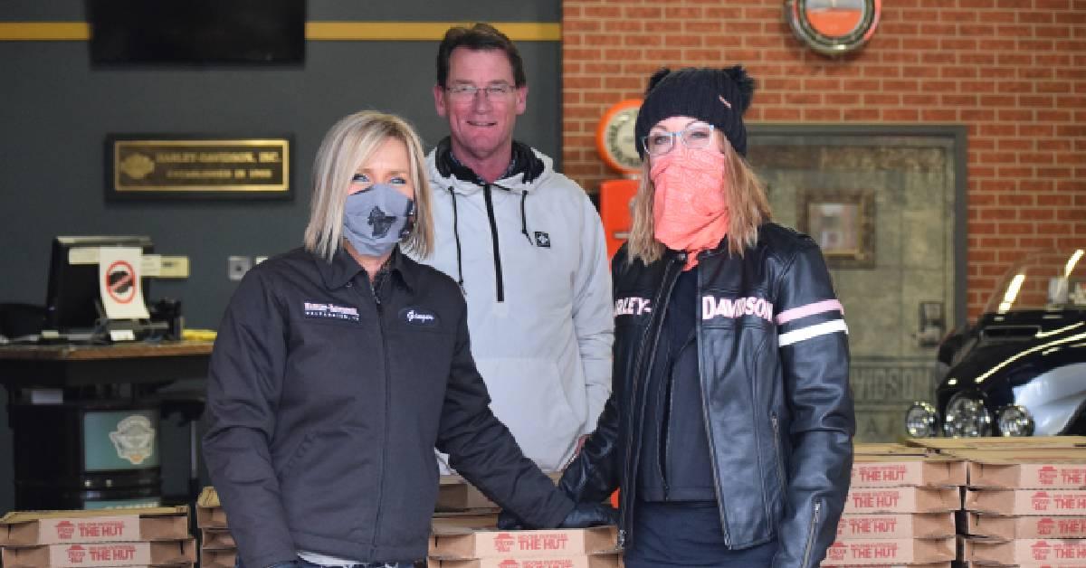Harley-Davidson of Valparaiso hosts pizza giveaway for Valparaiso community