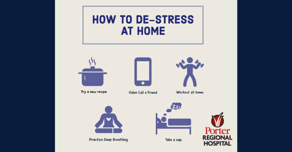 Health effects of stress, from your friends at Porter Regional Hospital