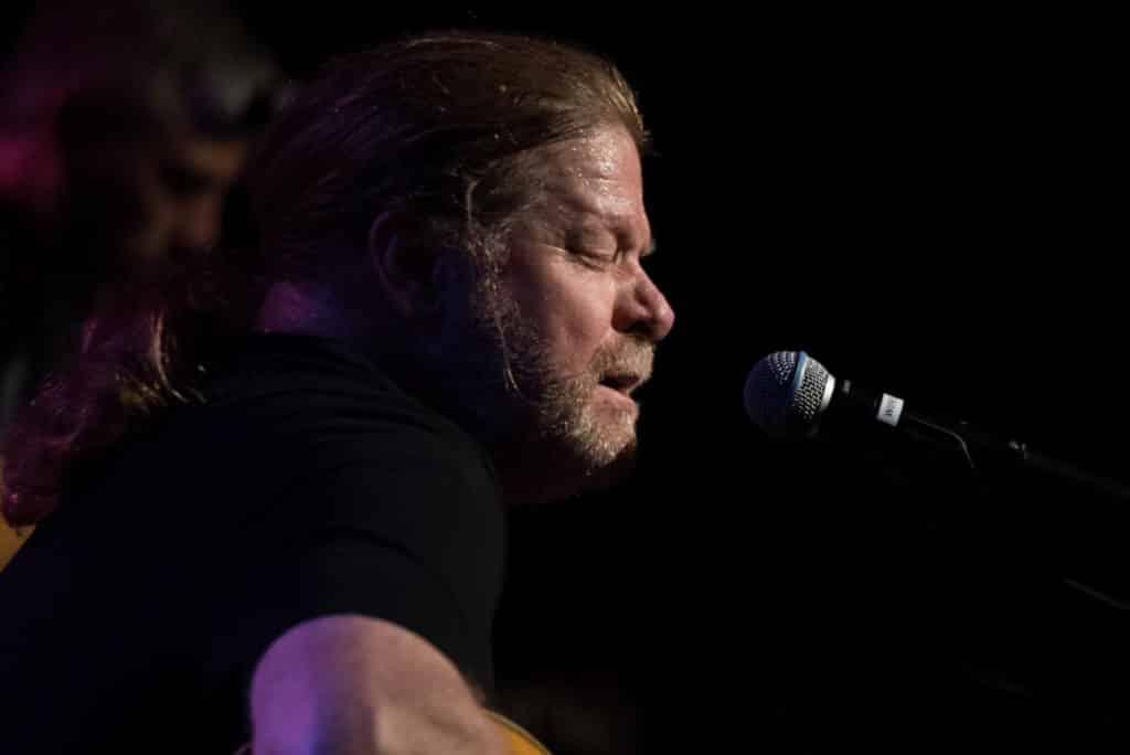 Johnny V musician close up singing