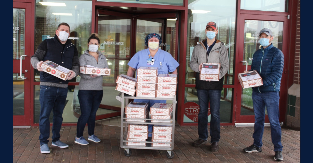 Latitude Commercial, other local businesses donate 660 donuts to frontline healthcare workers