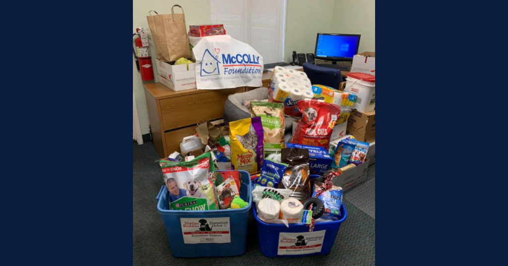 Donations to animal shelter McColly Shelter Buddies McColly Charities