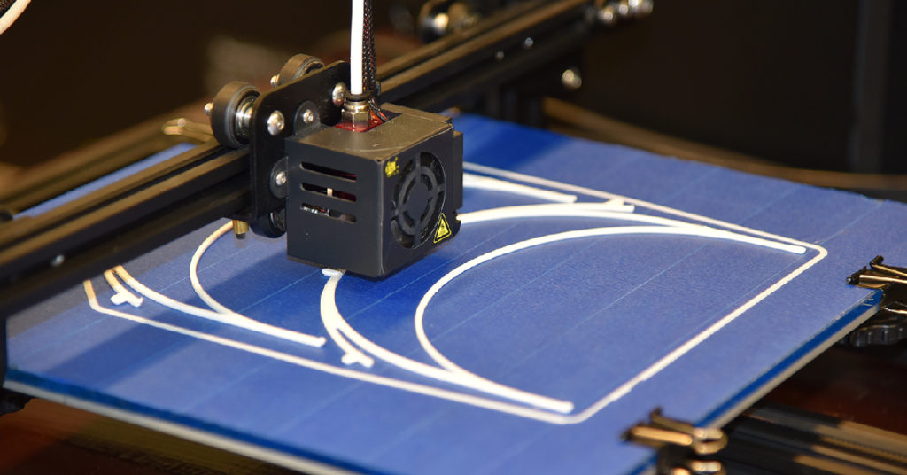 3D printer making face shields Purdue University Northwest