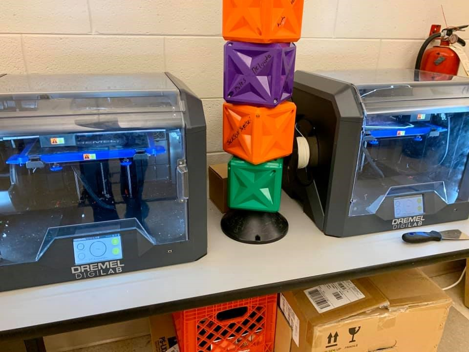 Crown Point High School's robotics team's 3D-print equipment, Dremel Digilab
