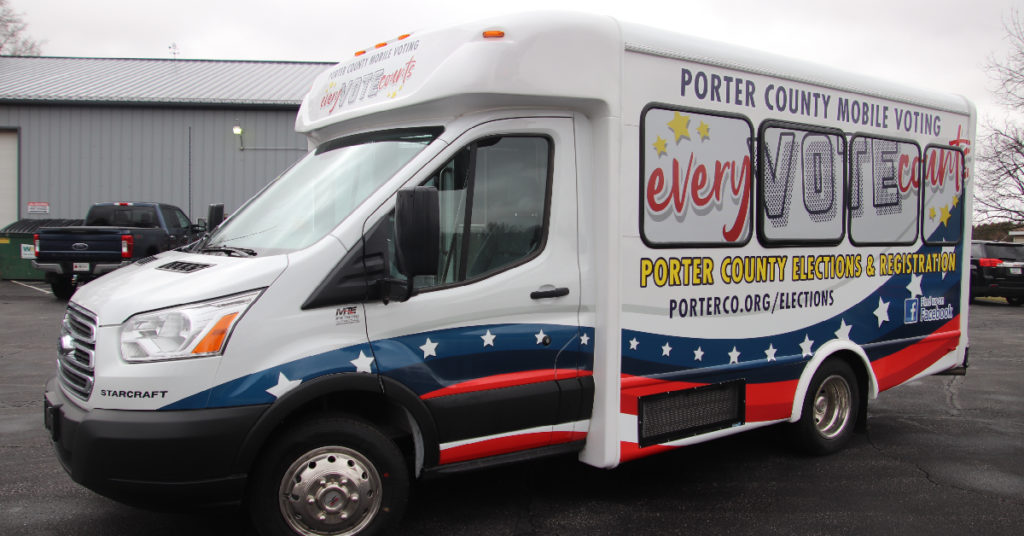 VoteMobile voting van Porter County Elections Steindler Signs & Graphix