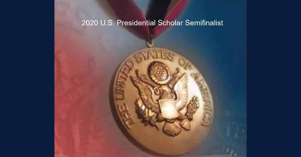 Region student Annie Ostojic named semifinalist in the U.S. Presidential Scholars Program