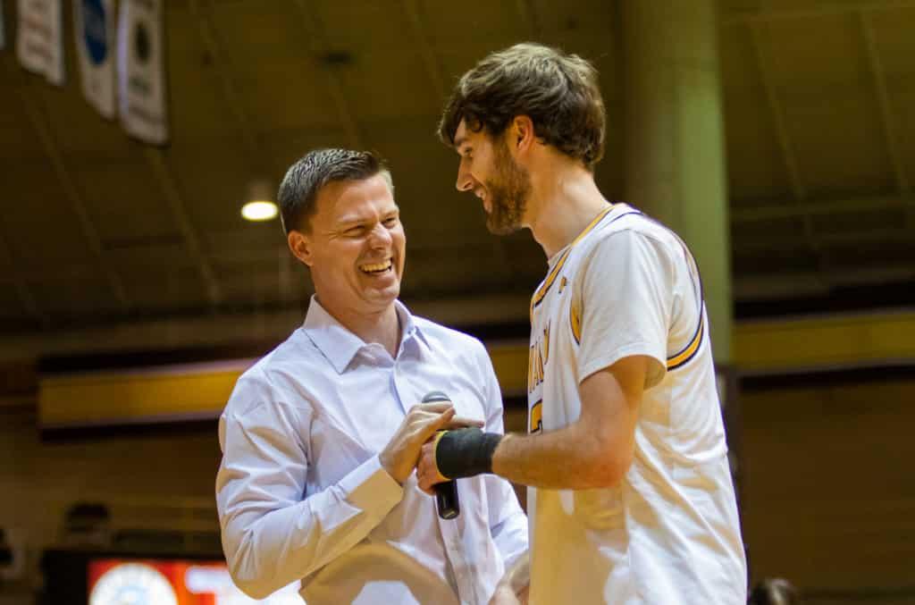 Ryan Fazekas Valparaiso University Basketball Coach Matt Lottich