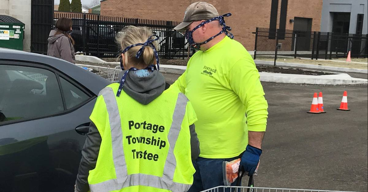 Portage Township Food Pantry, Portage Township Trustee working to help feed residents during COVID-19 Crisis; Township expanding services to help meet assistance needs
