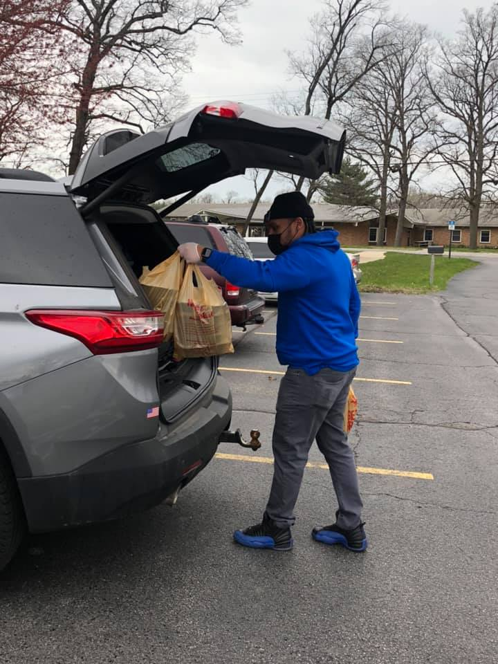 Boys & Girls Clubs of Greater Northwest Indiana staff distribute meals to Club families.