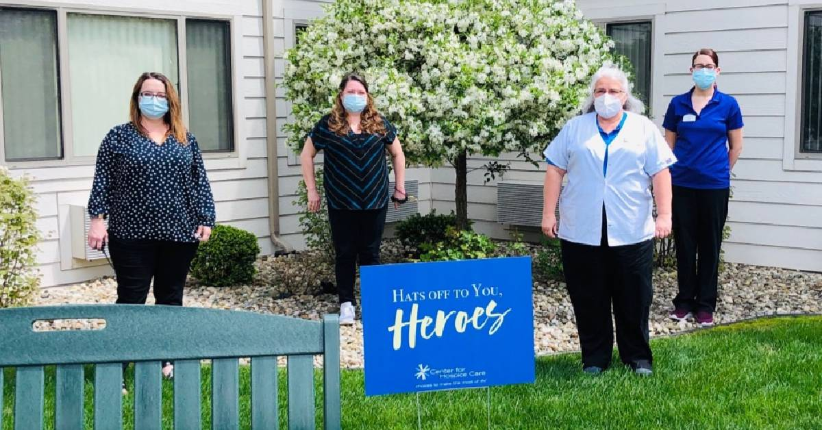 "Center for Hospice Care taking their ""hats off for heroes"""