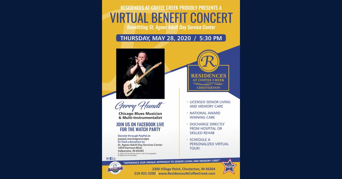 Residences at Coffee Creek hosts virtual concert fundraiser for local adult day center