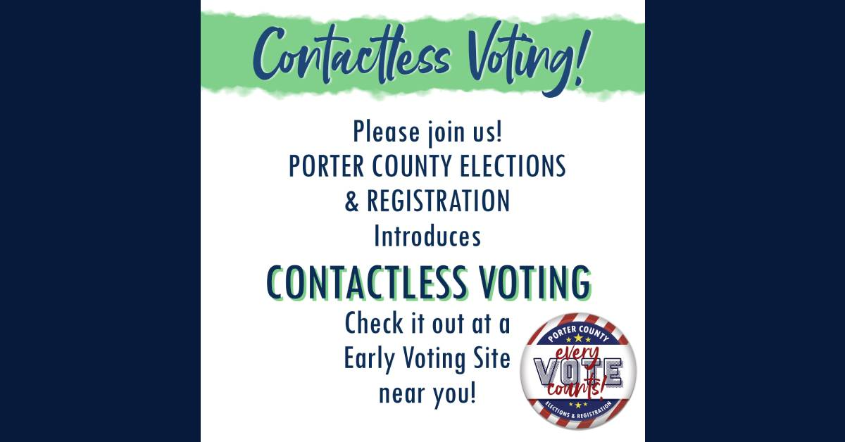 Porter County introduces contactless voting