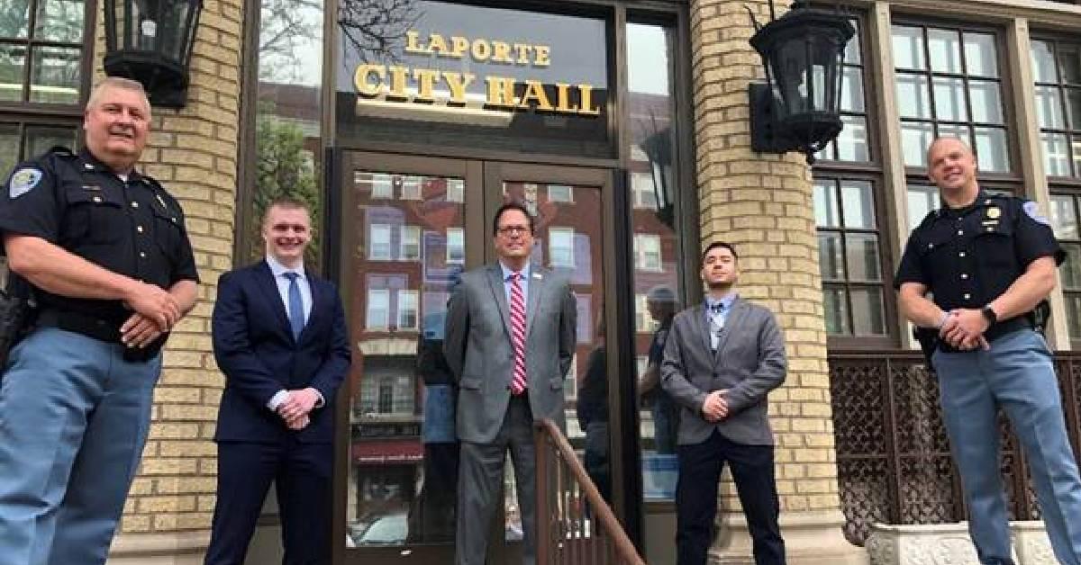 City of La Porte Police swear in two new officers