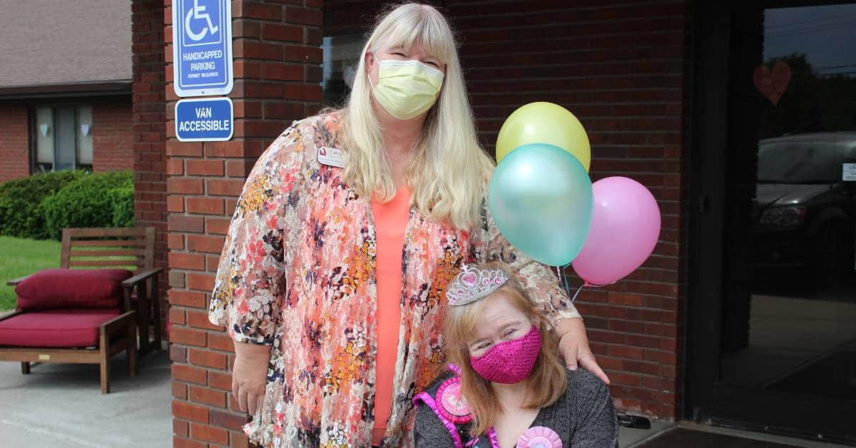 Life Care Center of Valparaiso hosts surprise birthday parade for resident