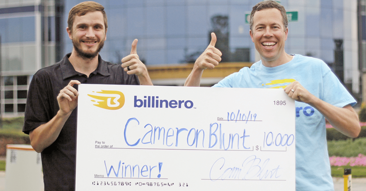 Billinero savings app awards $1,000 to monthly drawing winner