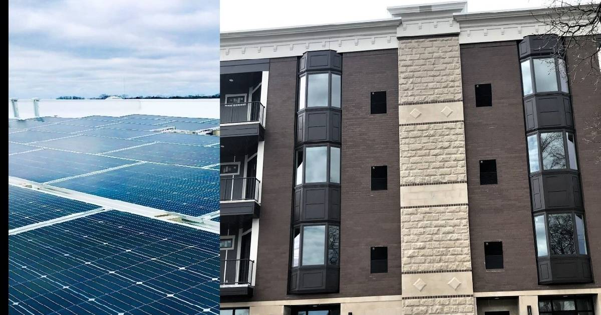Chester Inc, Wayne Enterprises integrate bifacial solar array on downtown Valparaiso's Vale View development