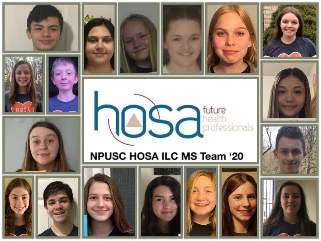 HOSA middle school team 2020.