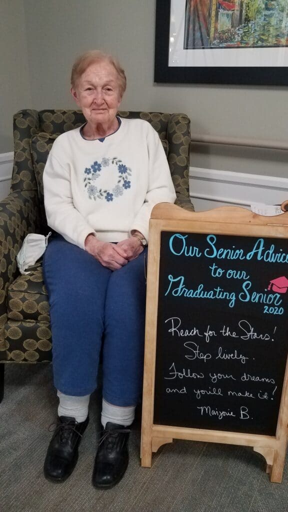Senior with advice at StoryPoint Senior Living