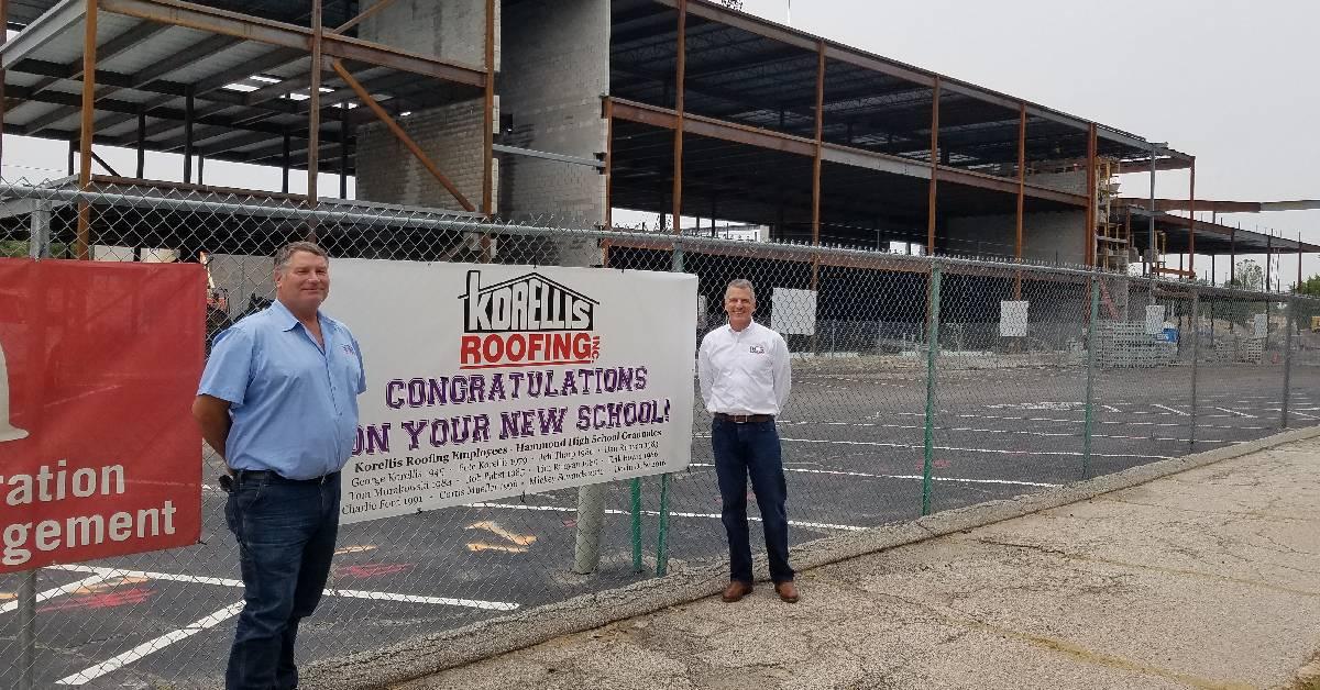 Pete Korellis and Jeff Tharp of Korellis Roofing celebrate 60 years of partnership