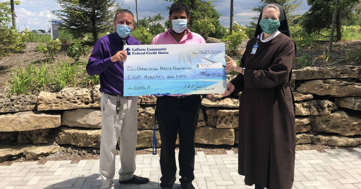 LaPorte Community Federal Credit Union assists Franciscan Health's fight against COVID-19