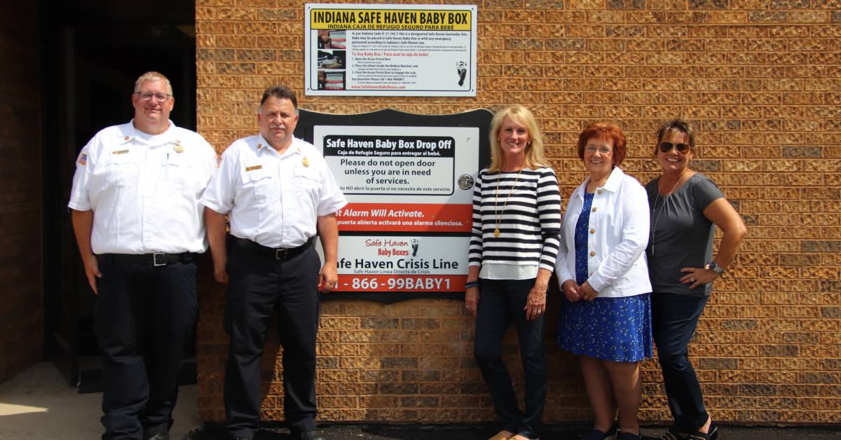 Portage Fire Station unveils Safe Haven Baby Box, vows to protect babies and mothers in crisis