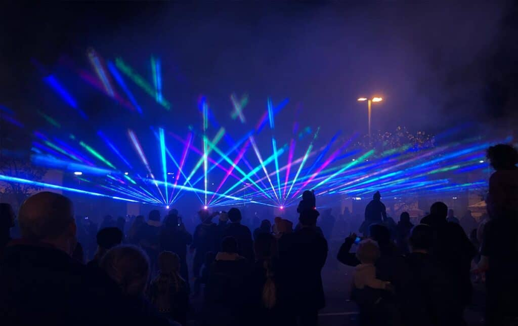 Laser music show
