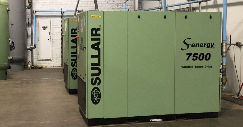 green sullair energy compressor