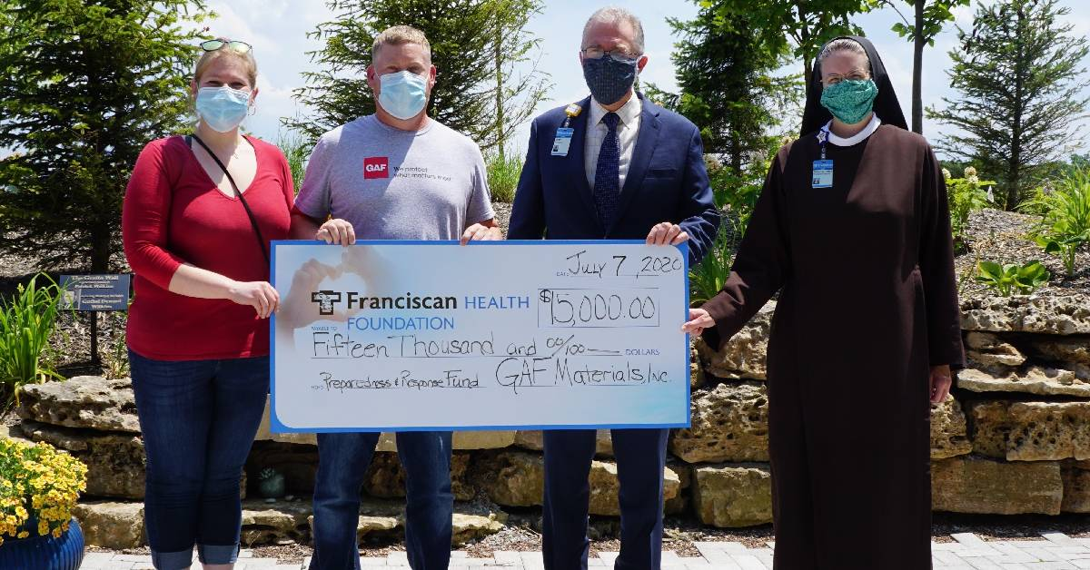 Donation from GAF will protect healthcare workers at Franciscan Health Michigan City