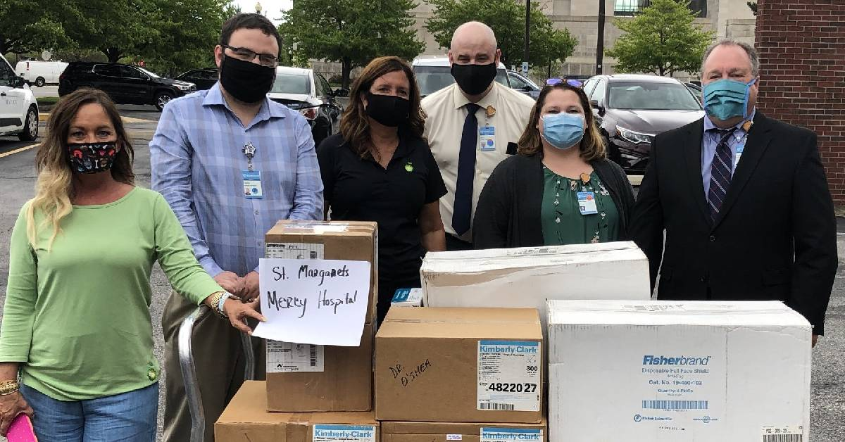 BP America delivers PPE donation to Franciscan Health Hammond